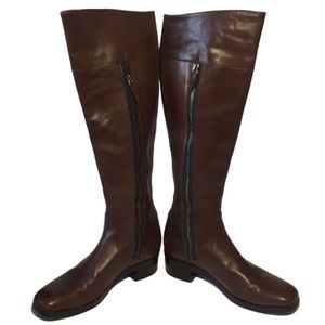 BALENCIAGA Brown Leather Riding Boots Authentic